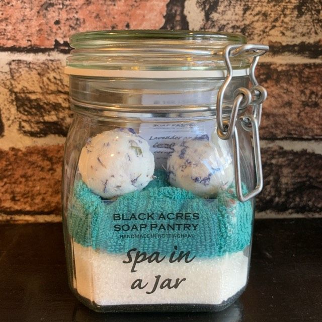 Black Acres Spa in a Jar Lavender & Cornflower - The Soar Trading Co